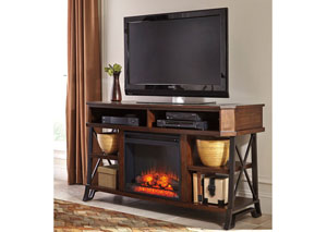 Vinasville Large TV Stand w/ LED Fireplace Insert,Signature Design by Ashley
