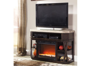 Radilyn Medium TV Stand w/ LED Fireplace Insert