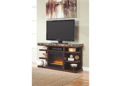 Kraleene Large TV Stand w/ LED Fireplace Insert