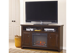 Hindell Park Large TV Stand w/ LED Fireplace Insert