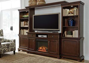 Porter Large Entertainment Center w/ LED Fireplace Insert