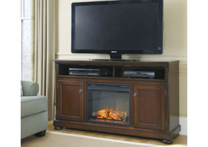 Porter Large TV Stand w/ LED Fireplace Insert