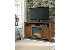 Chimerin Large TV Stand w/ LED Fireplace Insert