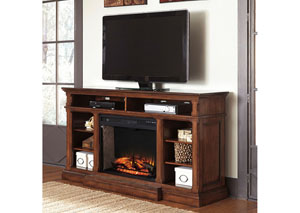 Gaylon Extra Large TV Stand w/ LED Fireplace Insert