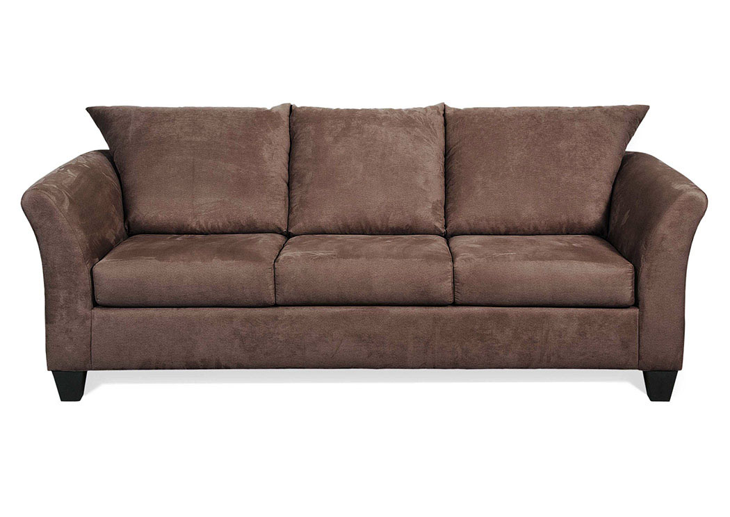 Atlantic bedding and furniture sienna chocolate stationary sofa Chocolate loveseat