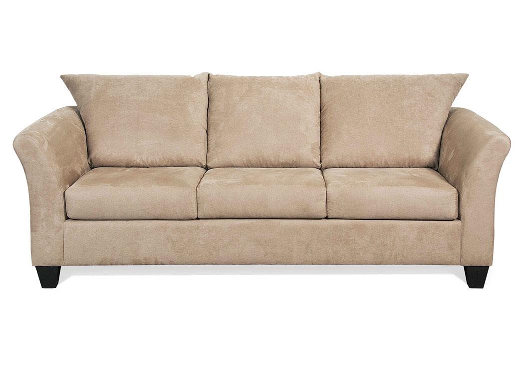 atlantic bedding and furniture sienna mocha stationary sofa