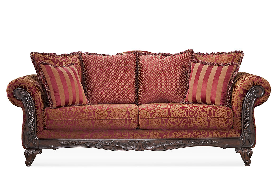 Atlantic Bedding And Furniture Nashville Momentum Magenta Sofa