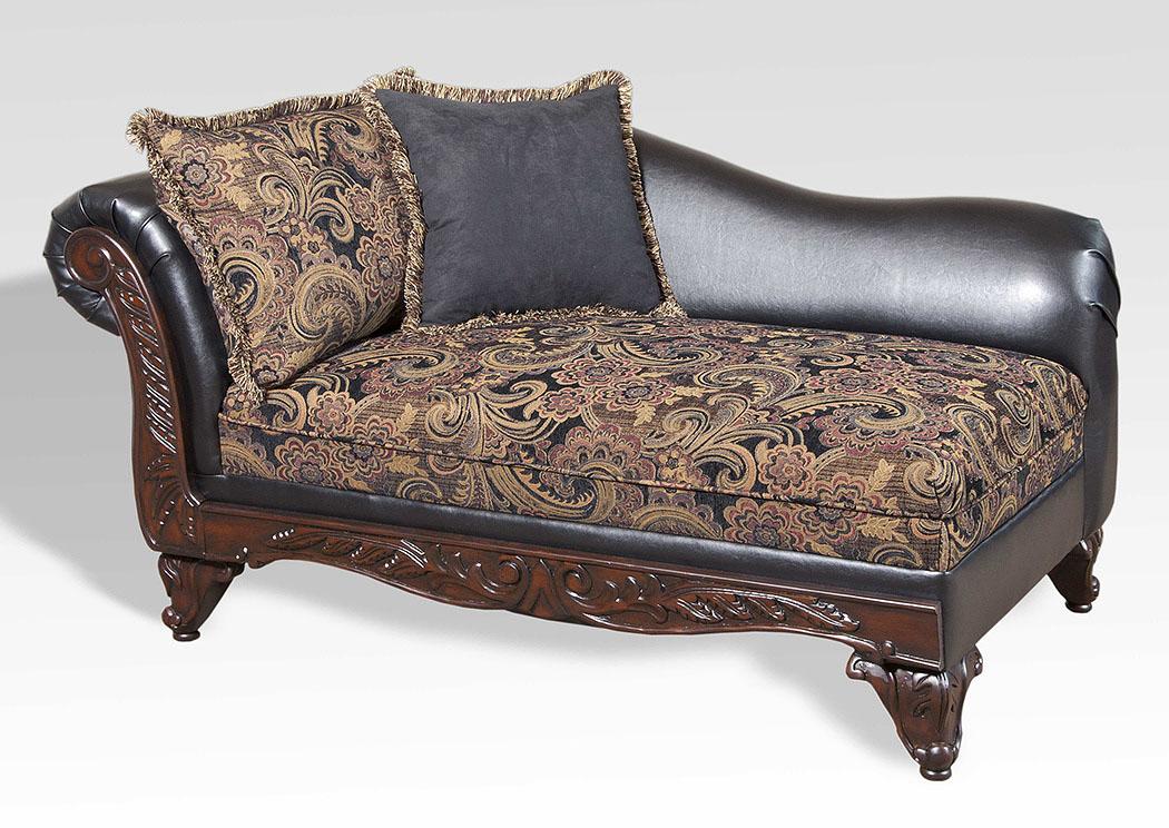 atlantic bedding and furniture san marino ebony chaise