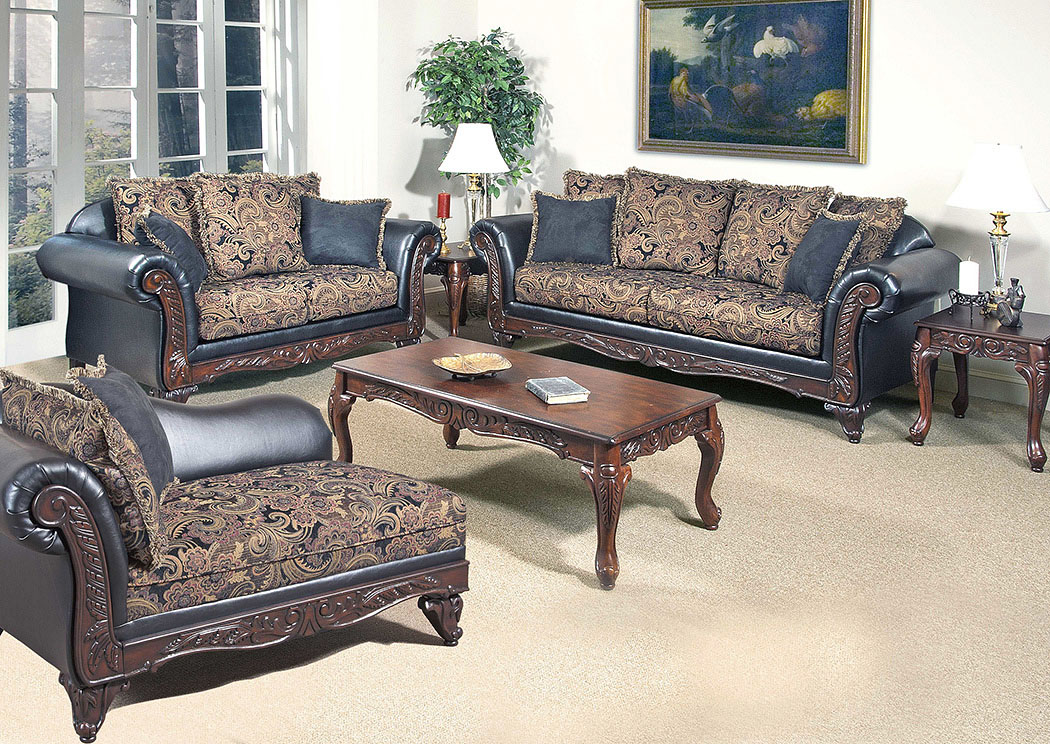 Atlantic Bedding And Furniture San Marino Ebony Sofa And