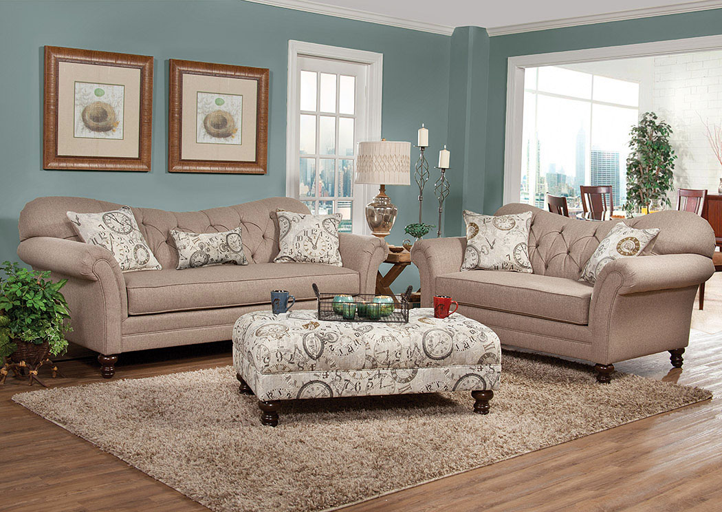 Atlantic Bedding And Furniture Abington Safari Timeless Patina Sofa And Loveseat