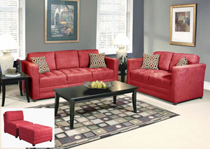 Sienna Redrock Skinny Minnie Godiva Stationary Sofa and Loveseat,ABF Serta Hughes