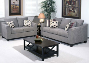 Flyer Metal Euphoria Roxanne Rio Stationary Sofa and Loveseat,ABF Serta Hughes
