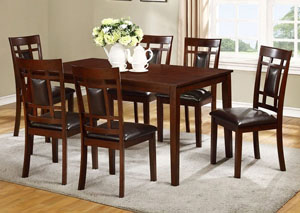 James Espresso Dining Table w/ 4 Side Chairs,ABF Lifestyle