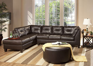 San Marino Chocolate Sectional,ABF Serta Hughes