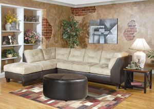 San Marino Chocolate Padded Saddle Sectional,ABF Serta Hughes
