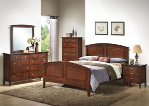 Daniels Whiskey Queen Panel Bed w/ Dresser and Mirror,ABF Lifestyle