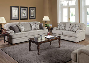 Lifeline Beige Penmere Graphite Elizabeth Ash Stationary Sofa and Loveseat,ABF Serta Hughes