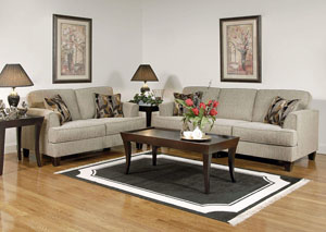 Soprano Radical Peppercorn Stationary Sofa and Loveseat,ABF Serta Hughes