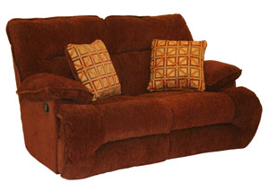 Bailey Crimson & Harvest Reclining Loveseat,Catnapper