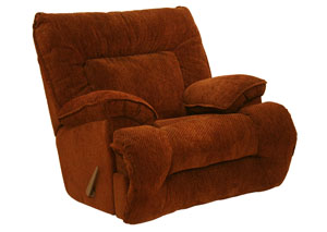 Bailey Crimson Chaise Rocker Recliner