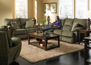 Gavin Foliage & Herb Reclining Sofa, Rocking Loveseat & Swivel Glider Recliner