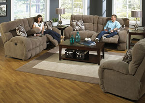 Siesta Porcini & Snickerdoodle Power Reclining Sectional,Catnapper