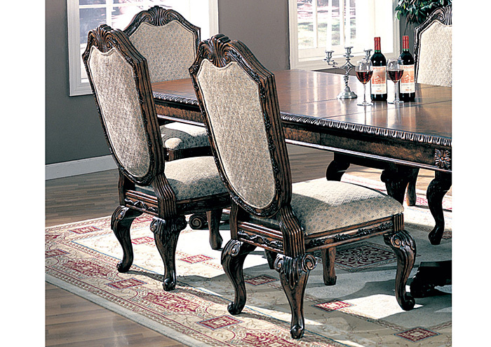 Best Home Furniture Outlet Vineland Nj Saint Charles Green Brown Side Chair Set Of 2