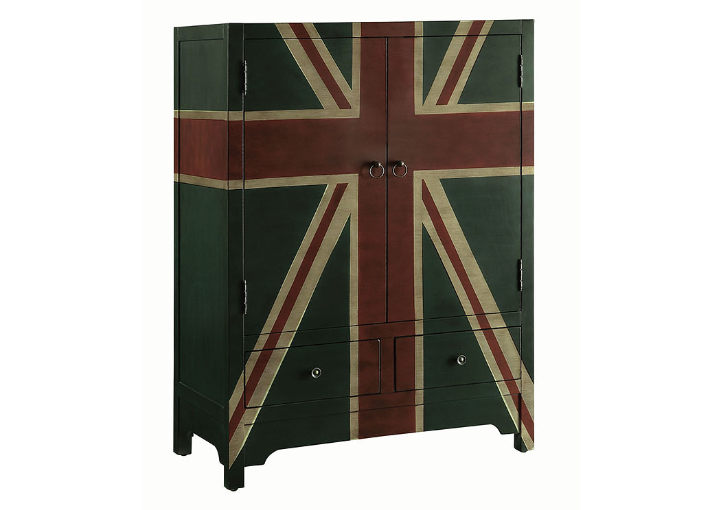 Foothills Family Furniture Black & Green Accent Cabinet