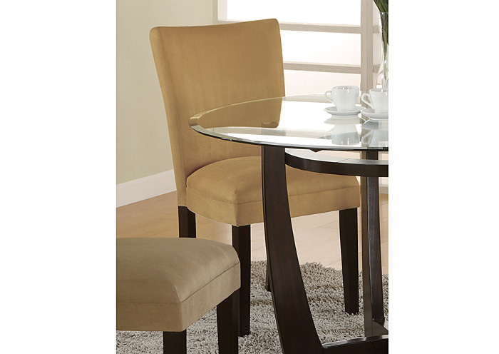Fat Daddy s Furniture Gold & Cappuccino Parson Chair Set