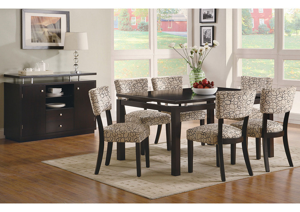 Jarons Libby Cappuccino Dining Table w 6 Side Chairs : 103161 103162 103165 from jarons.com size 1050 x 744 jpeg 231kB