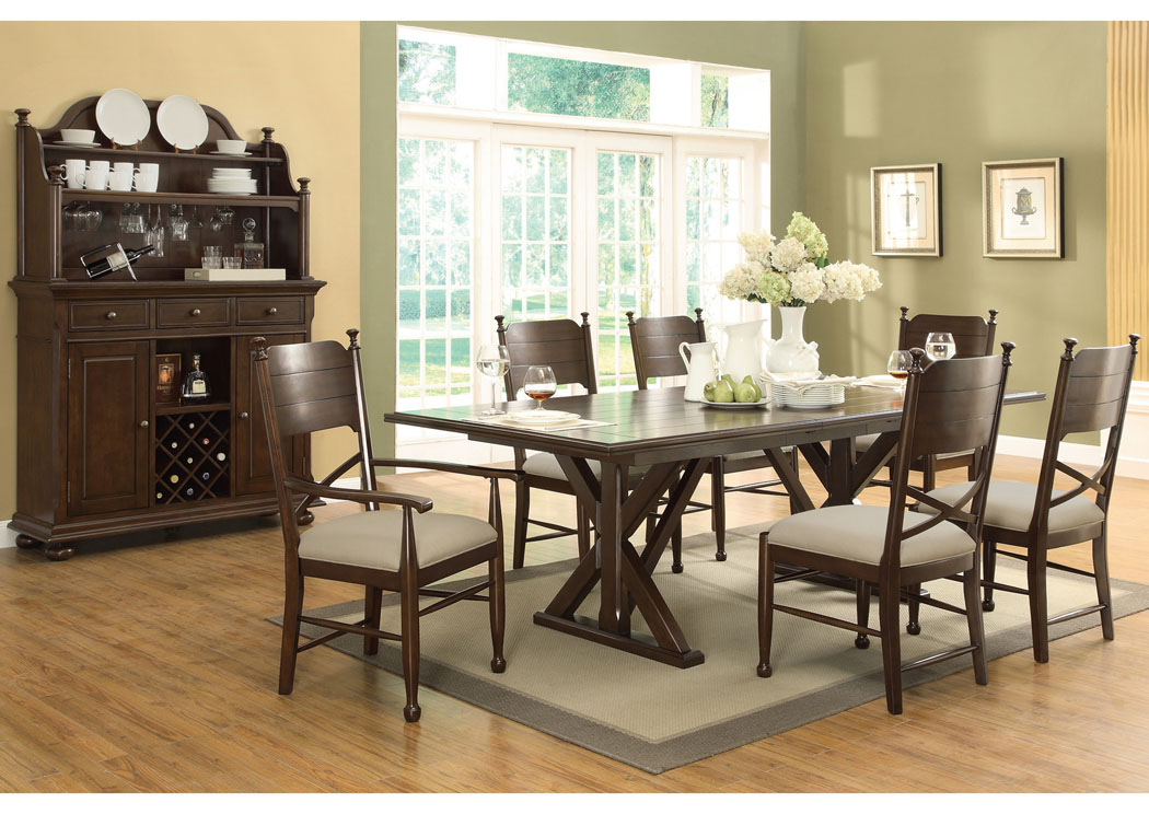 dining rooms more camilla brown cherry dining table w 4 side