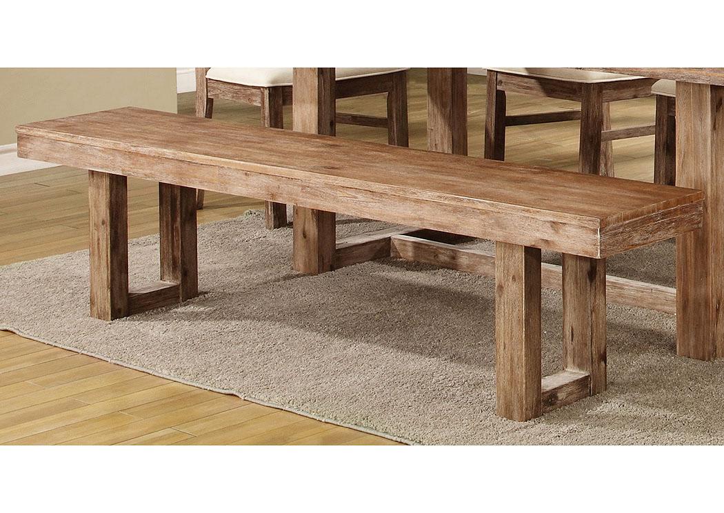 Furniture Palace Wire Brushed Nutmeg Bench