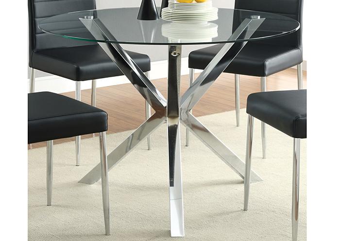 Compass Furniture Jefferson La Glass Top Dining Table