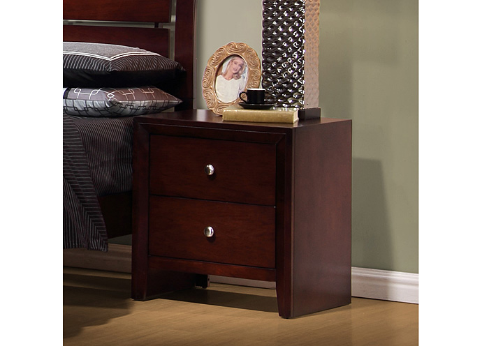 Orleans Furniture Serenity Merlot Night Stand
