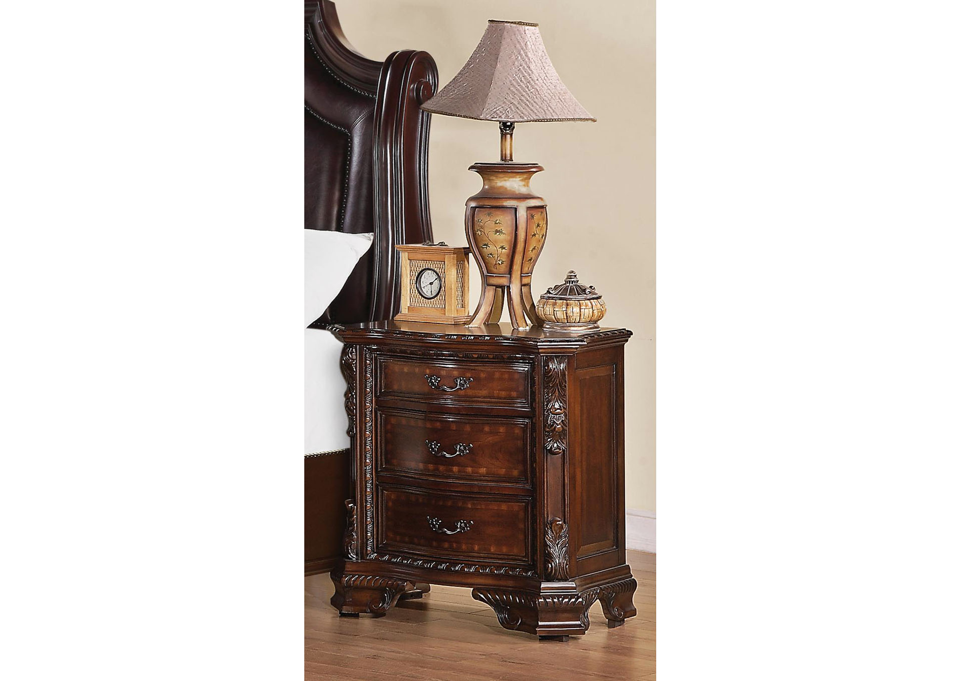 Harlem Furniture Maddison Brown Cherry Nightstand
