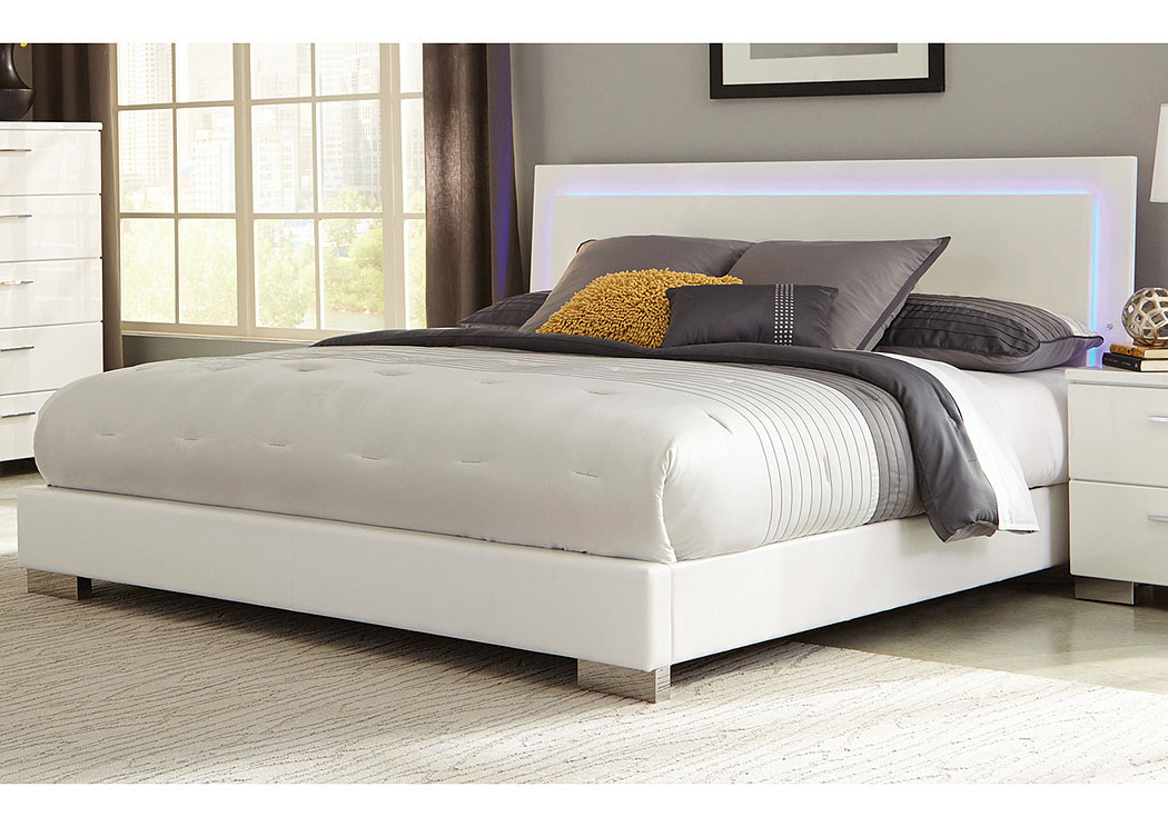 cincy beds high gloss white queen bed
