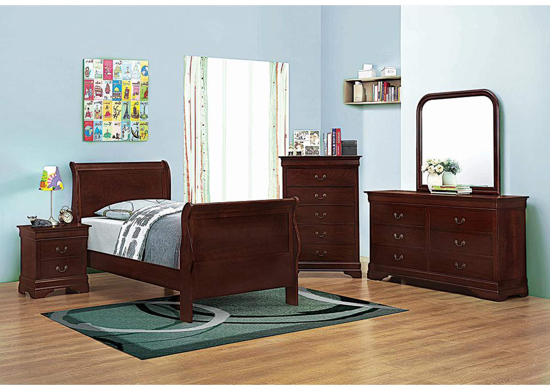Harlem Furniture Cherry Twin Bed