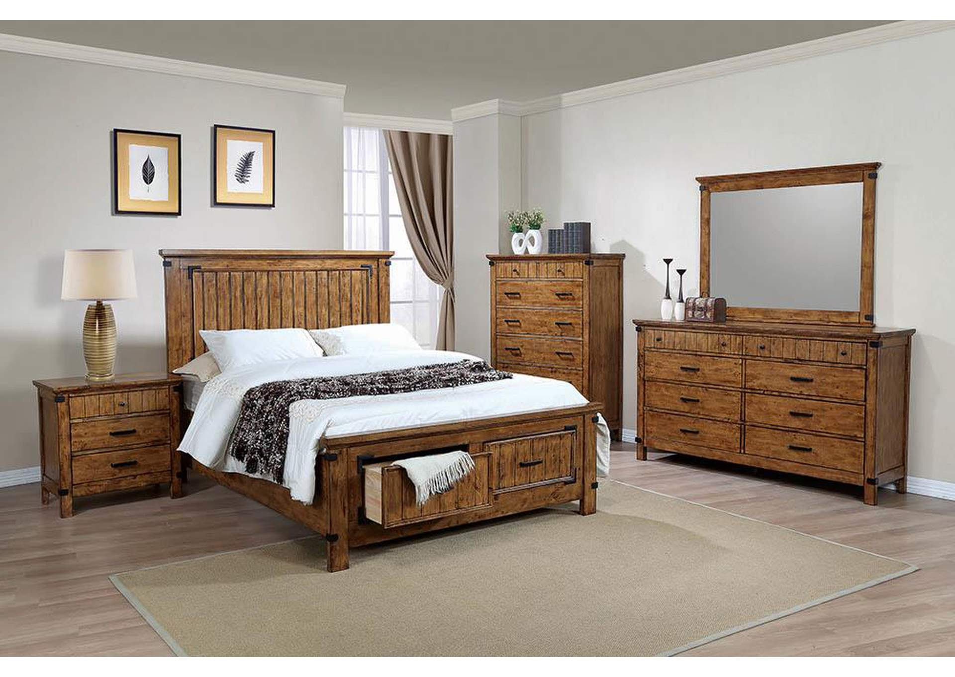 Your Cost Furniture Natural & Honey Full Storage Bed