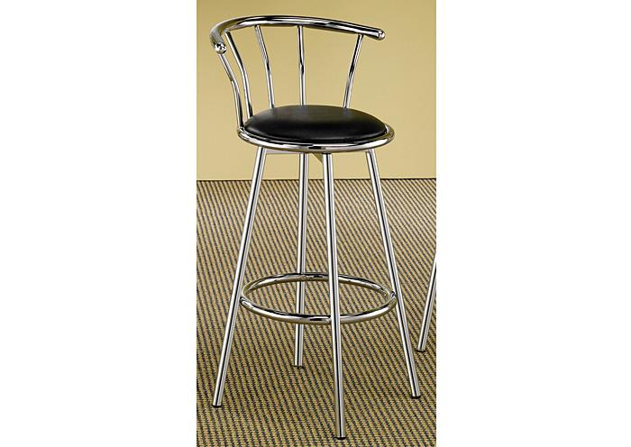 Furniture Liquidators - Baton Rouge, LA Chrome Plated Bar Stool (Set of 2)