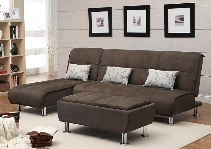 nulook furniture chaise end sectional sofa bed