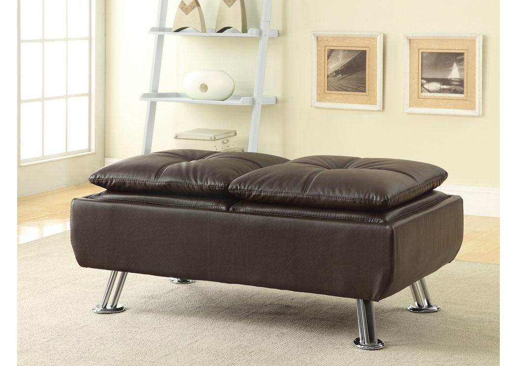 HD Furniture East Orange NJ Brown Ottoman