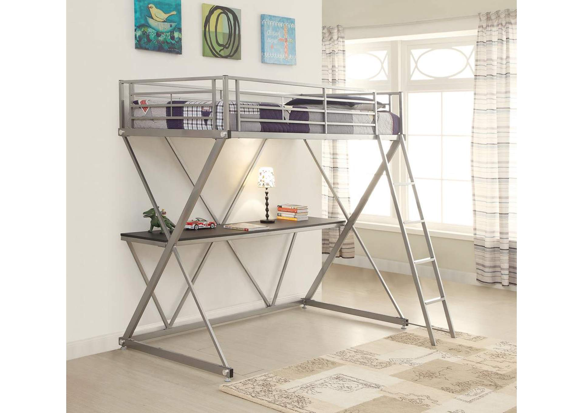 Furniture Palace Silver Twin Loft Bed