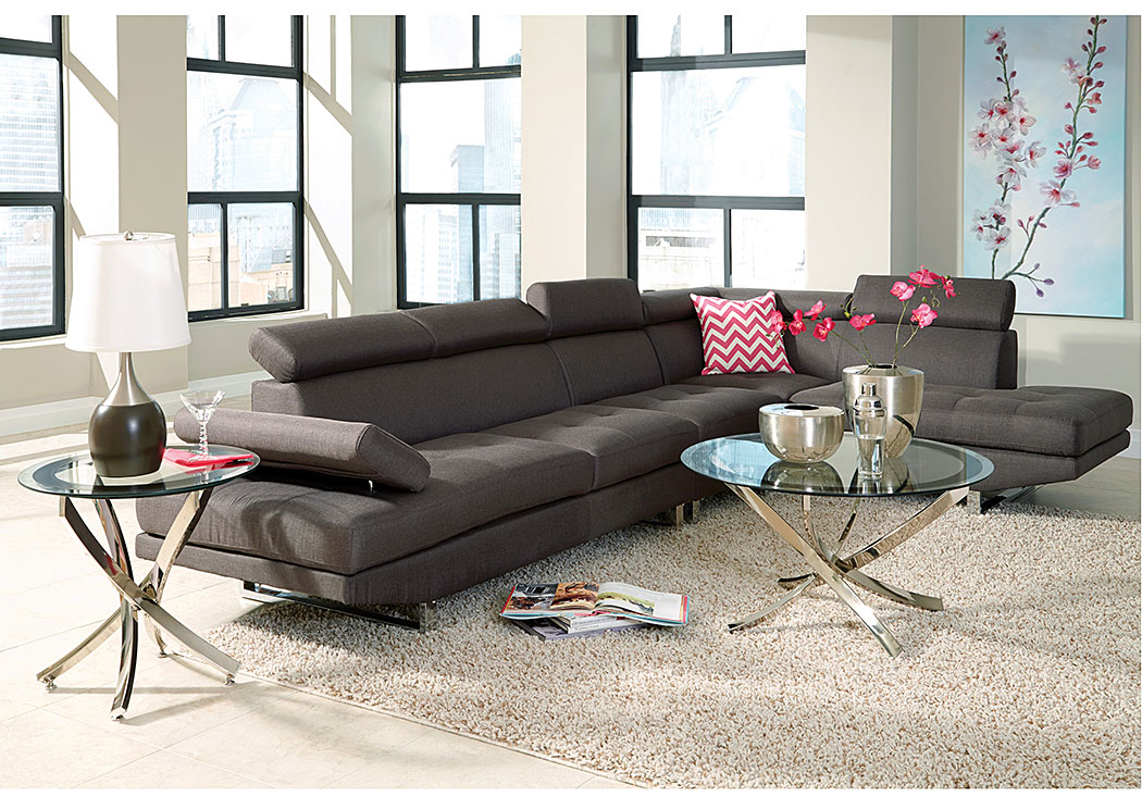 Canales Furniture Arlington Dallas Fort Worth Mesquite Tx Grey Dark Brown Sectional