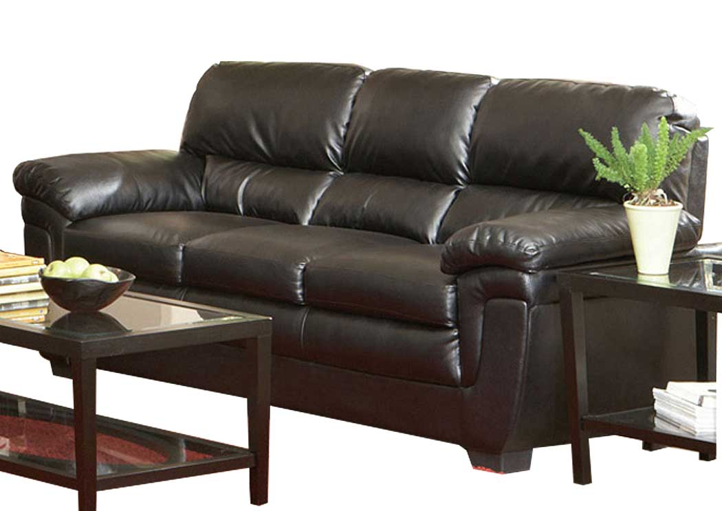Atlantic Bedding And Furniture Nashville Fenmore Black Sofa