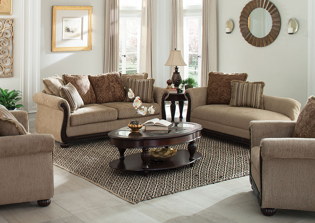 National Furniture Outlet Westwego La Beasley Brown Sofa And Loveseat