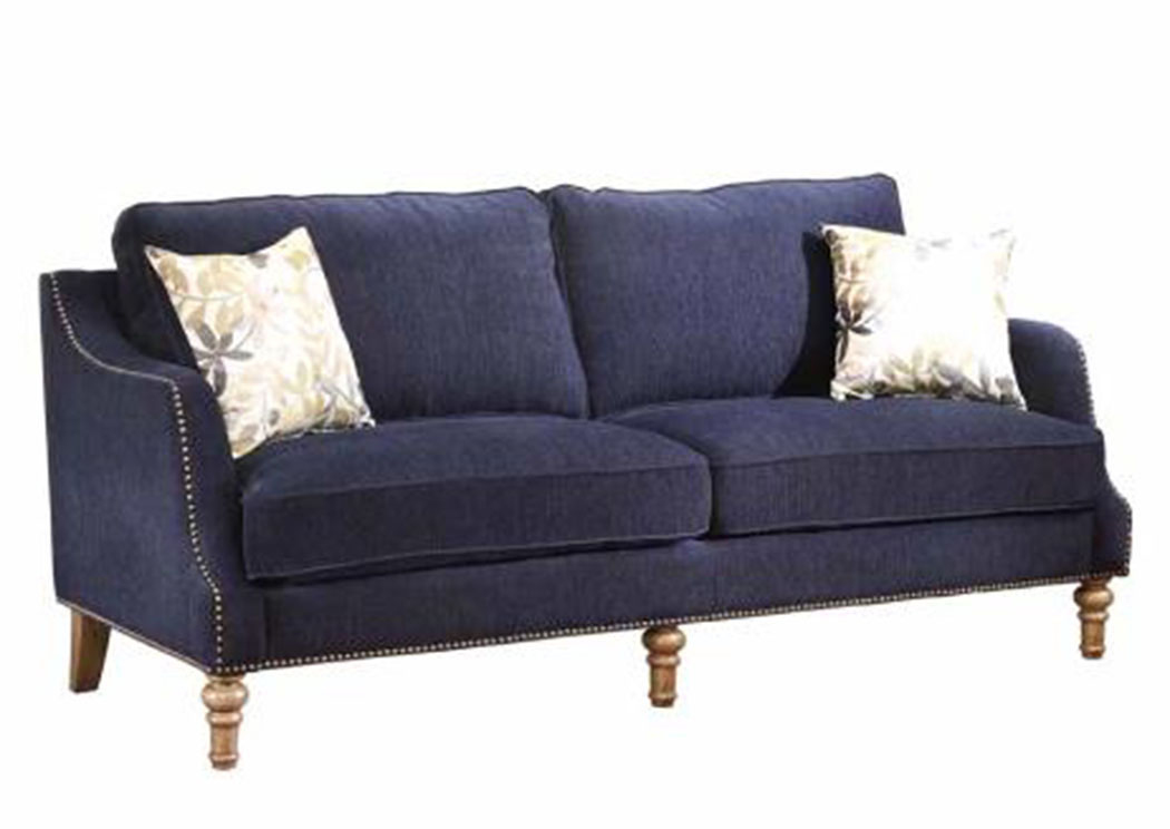 Atlantic Bedding And Furniture Baltimore Blue Sofa