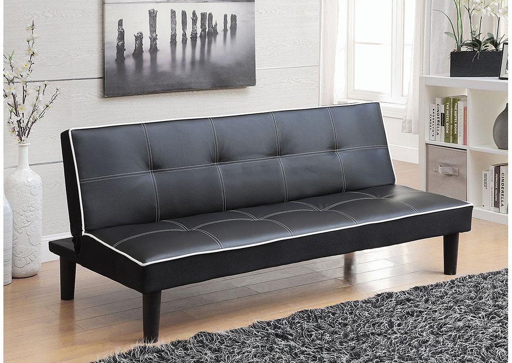 Fat Daddy s Furniture Black Sofa Bed