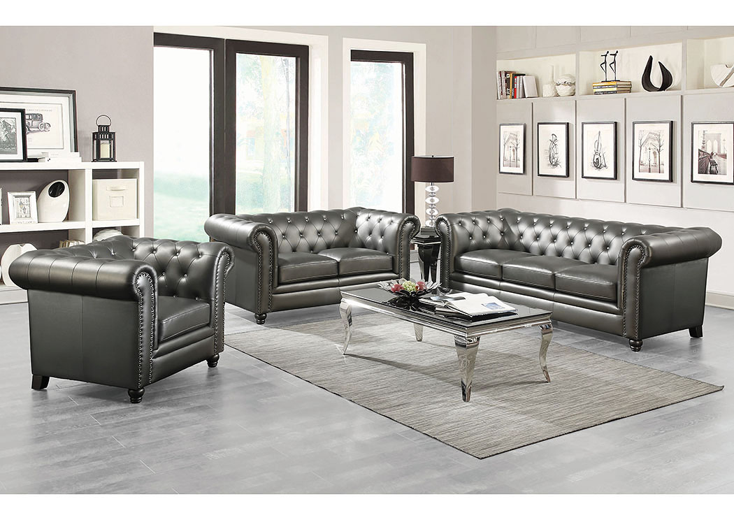 Harlem Furniture Gunmetal Grey Sofa