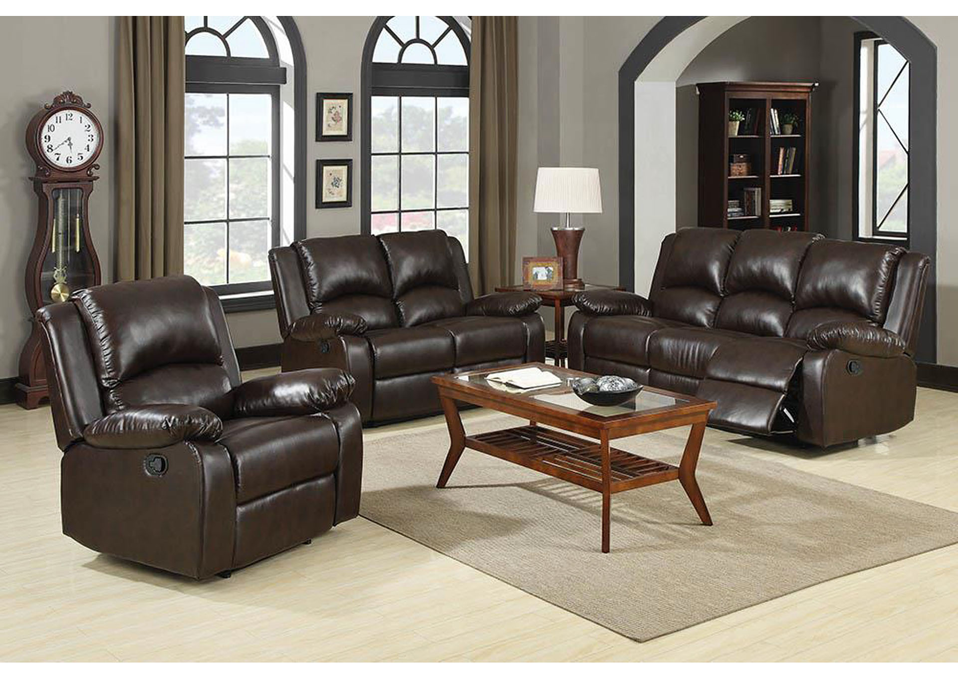 Tallahassee Discount Furniture Tallahassee Fl Boston Brown Double Gliding Love Seat W Console