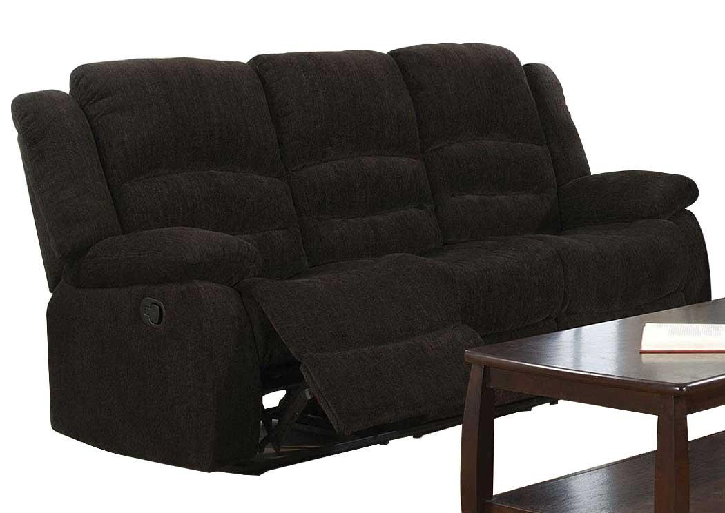 Furniture Palace Gordon Dark Brown Motion Sofa